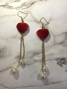 Handmade Love Heart earrings/ 手制心心長耳環