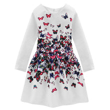 Family Clothing 2017 Autumn Butterfly Print Family Dresses Mom and Daughter Dress Mother Daughter Matching Clothes Family Outfit