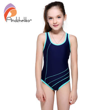 Girls One Piece, Patchwork Swimming Costume (4 Colors)/ 女孩連身游泳衣(4色)