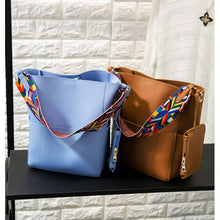 Ms. shoulder bag large capacity ribbon handbag