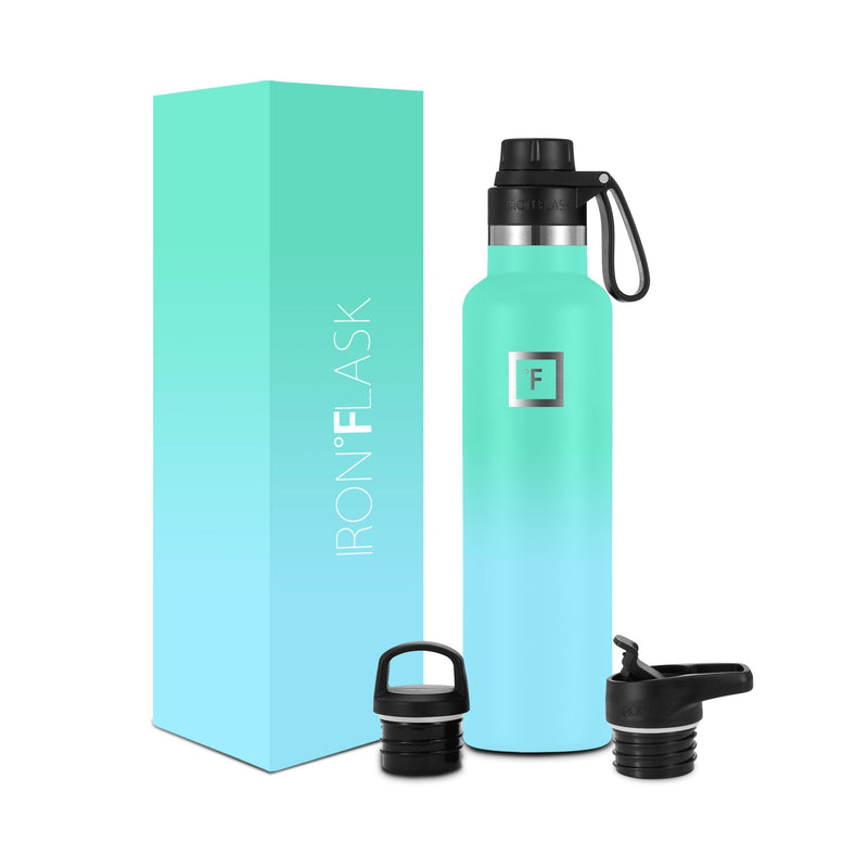 24 Oz Narrow Mouth Water Bottle with Spout Lid Narrow Mouth Water Bottles Iron Flask Sky