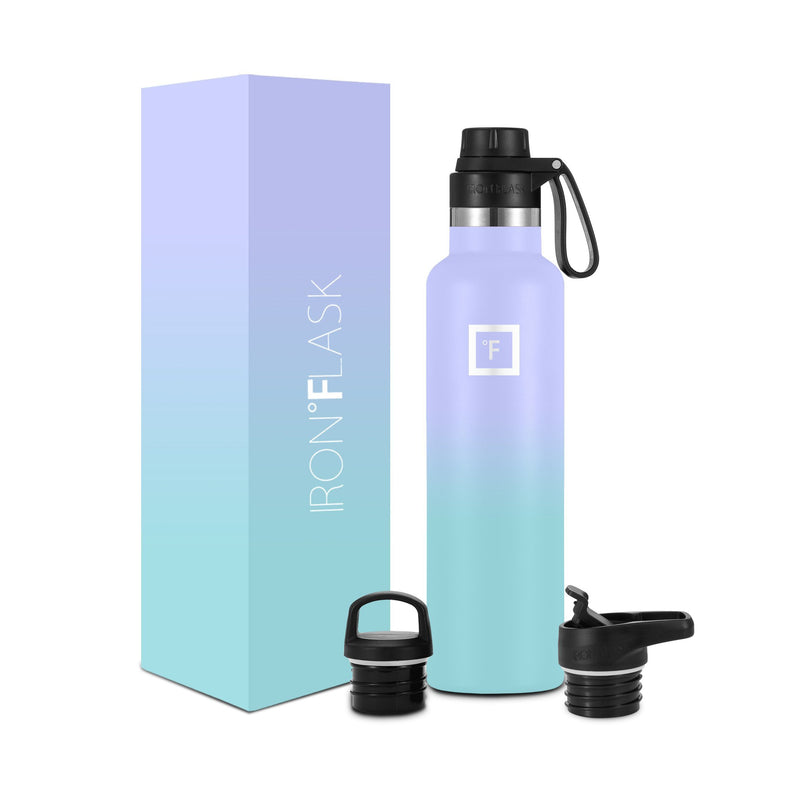 24 Oz Narrow Mouth Water Bottle with Spout Lid Narrow Mouth Water Bottles Iron Flask Cotton Candy