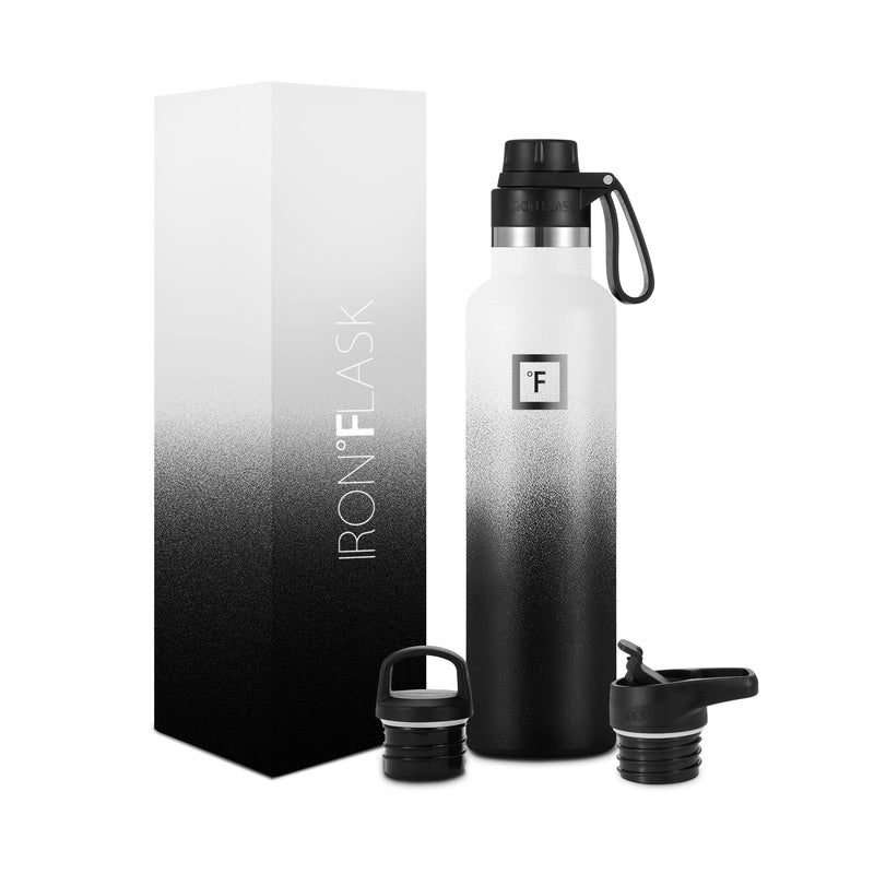 24 Oz Narrow Mouth Water Bottle with Spout Lid Narrow Mouth Water Bottles Iron Flask Day & Night