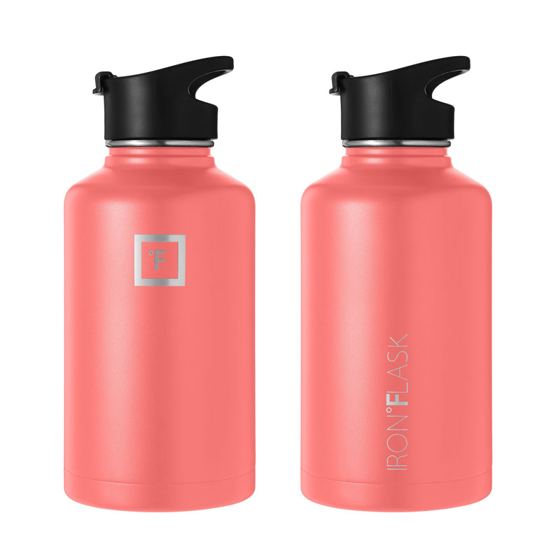 64 oz Wide Mouth Water Bottle with Spout Lid Wide Mouth - Spout Lid Iron Flask