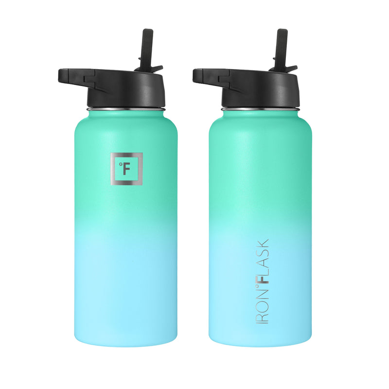 32 oz Wide Mouth Water Bottle with Straw Lid Wide Mouth - Straw Lid Iron Flask