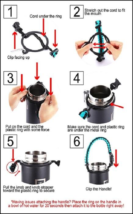 Paracord Handle Paracord Handle Iron Flask