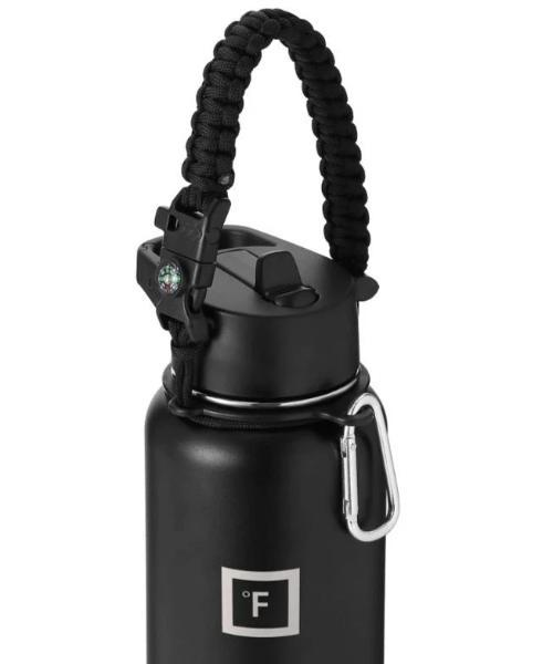 Paracord Handle Paracord Handle Iron Flask Midnight Black