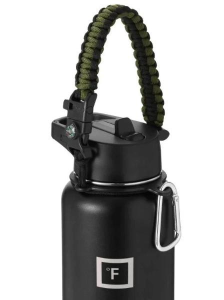 Paracord Handle Paracord Handle Iron Flask Olive Green