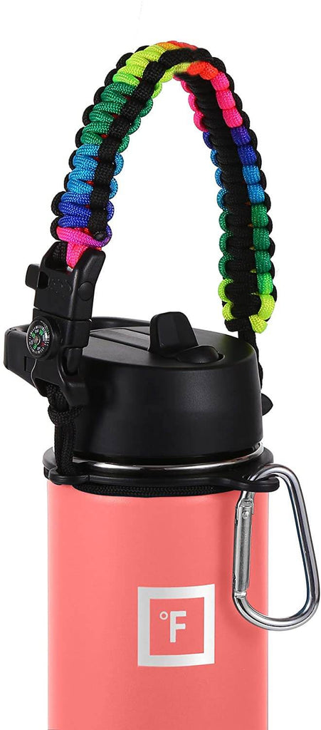 Paracord Handle Paracord Handle Iron Flask Rainbow