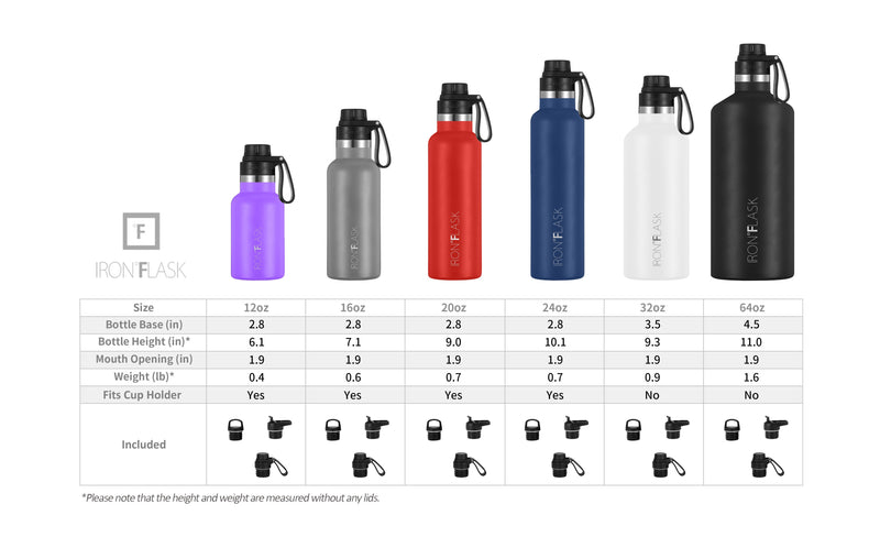 24 Oz Narrow Mouth Water Bottle with Spout Lid Narrow Mouth Water Bottles Iron Flask