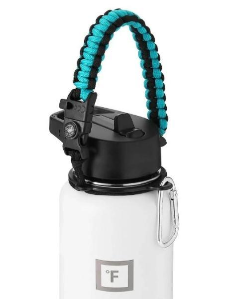 Paracord Handle Paracord Handle Iron Flask Aquamarine