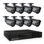 Nyxcam 2MP 8ch 1080P survalliance camera systems with 8-channel AHD bullet security cameras - Nyxcam