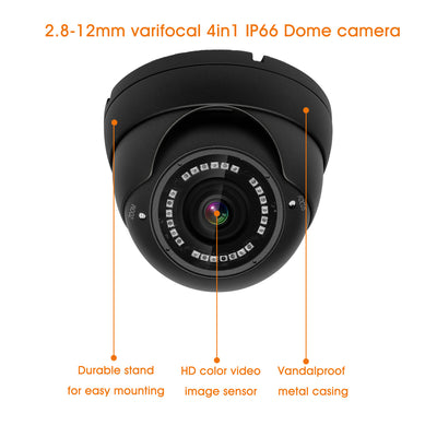 Nyxcam 2.8mm to 12mm 4in1 AHD TVI CVI ANALOGUE varifocal dome cctv Ahd cameras - Nyxcam