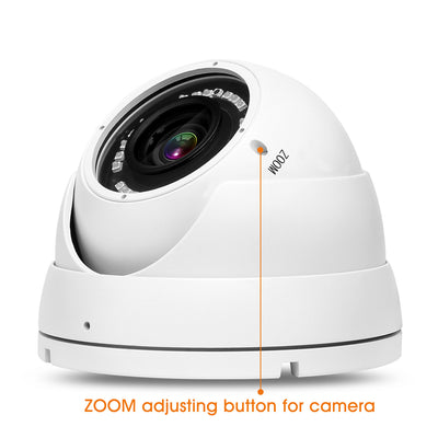 Nyxcam 2.8mm to 12mm 4in1 AHD TVI CVI ANALOGUE varifocal dome cctv Ahd security cameras - Nyxcam