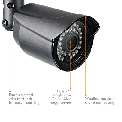 NYXCAM 1080P Security Bullet Camera, 2MP CCTV Camera for AHD DVR surveillance system - Nyxcam