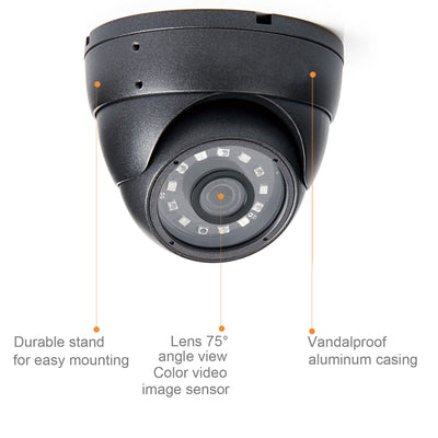 Nyxcam 2MP 1080P Dome Security CCTV AHD Camera - Nyxcam