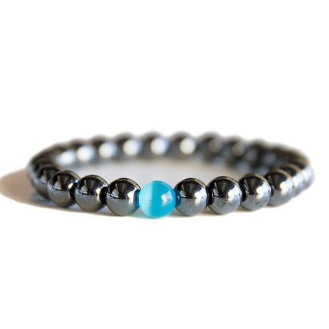 Hematite Stone Beads Energy Bracelet - FREE for a limited time only!