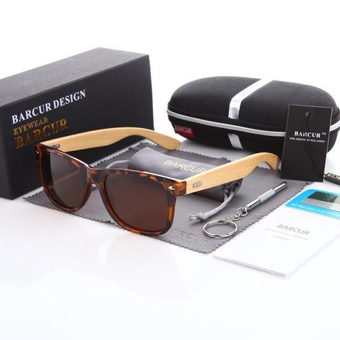 BARCUR Bamboo Wood Sunglasses In 5 Colors