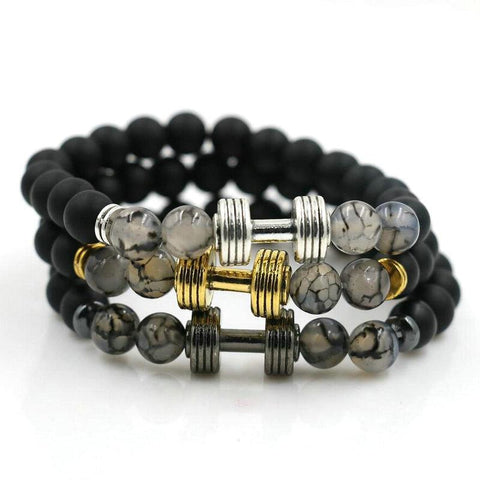 Natural Stones Dumbbell Bracelet for Men - FREE for a limited time