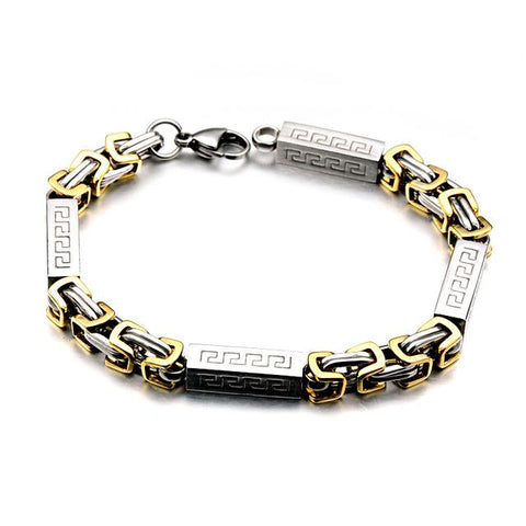 Titanium & Stainless Steel Chain Bracelet In 2 Colors