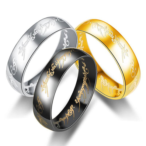 THE ONE RING Titanium Steel Ring