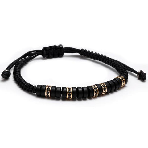 MAGIC Zirconium and Coconut Shell Bracelet
