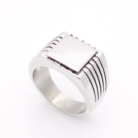 BIKER Signet Stainless Steel Ring - FREE for a limited time