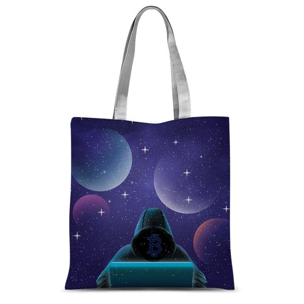 Bitcoin Invasion Classic Sublimation Tote Bag