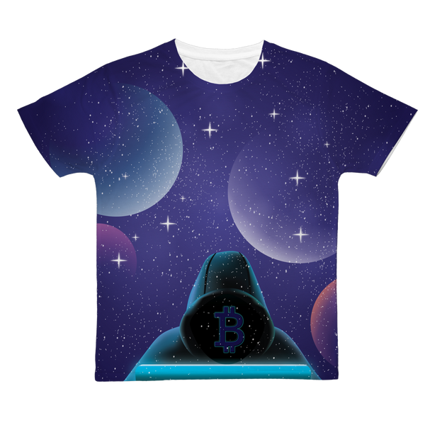 Bitcoin Invasion Classic Sublimation Adult T-Shirt