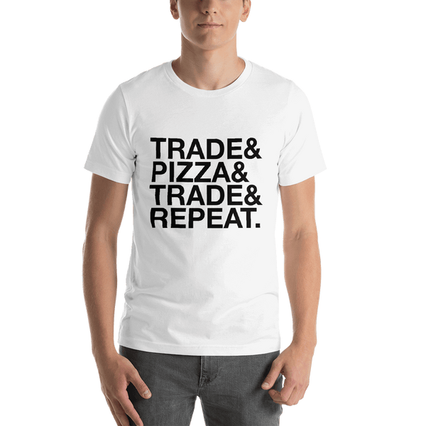 Trade & Pizza White T-Shirt High-end Design
