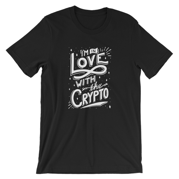 In Love w The Crypto T-Shirt Black & Navy High-end Design