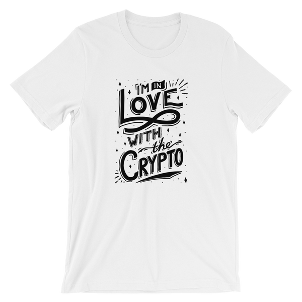In Love w The Crypto T-Shirt White High-end Design