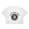 In Bitcoin We Trust Tshirt Ladies's Crop Top