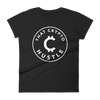 Women's Cryto Hustle fitted t-shirt