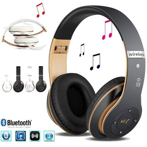 S6 Bluetooth Headphones Wireless Bluetooth 4.0 Heavy Bass Stereo Folding Auriculares with Mic Support TF SD Card