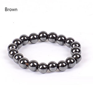 Biomagnetic Multi-shaped Black Stone Magnetic Bracelet Magnetic Health Weight Loss