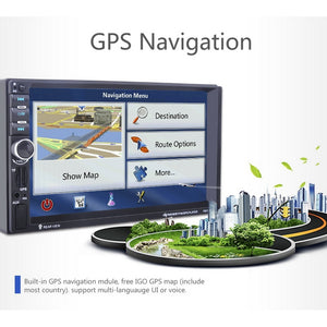 "7"" HD Touch screen 800*480 GPS Navigation Support USB Charge function BT function FM AUX-IN Support Rear View Camera input Suppo"