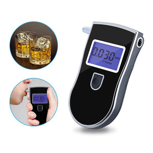 New Police New Breathalyzer Digital Alcohol Breath Tester Breathalyzer, 5 Disposable mouth pieces