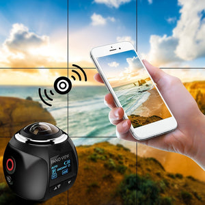 V1S 4K Ultra HD 0.96'' WiFi 360° Panoramic Digital VR Video Waterproof Camera DV