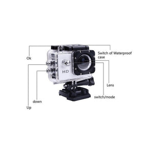Waterproof Sports DV HD F60R Outdoor Camera One Machine Remote Control Diving Wireless Digital Cam 7 colors(US Plug)