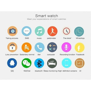 NFC Smart Watch Q18S Arc Clock With Sim TF Card Bluetooth Connection for iphone Android Phone Smartwatch PK GV18 DZ09 T11 M26