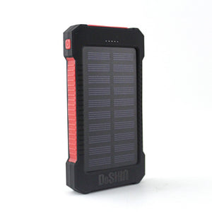 50000mAh Dual USB LED Light Portable Solar Charger External Battery Power Bank