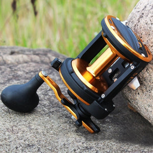 Sougayilang Trolling Reel with Aluminum Spool - 3 Ball Bearings 6.0 :1 High Speed Gears Smoothest Drag - Popular Method Used for