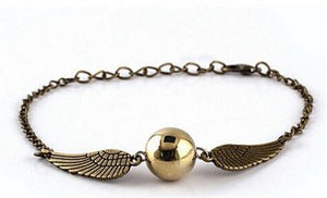 SHIP BY USPS: Harry Potter Quidditch Golden Snitch Bracelets chain fashion golden jewelry fan gift