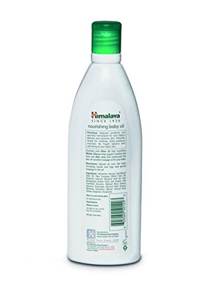 SHIP BY USPS: Himalaya Nourishing Baby Oil, Lanolin Free & Mineral Oil Free 6.76oz/200ml (2 Pack)