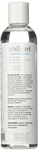 #1 Best Seller: Shibari Premium Personal Lubricant, Water Based Lube, 8 Ounce Bottle