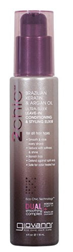 2chic Brazilian Keratin & Argan Oil Ultra-Sleek Leave-In Conditioning & Styling 4.oz