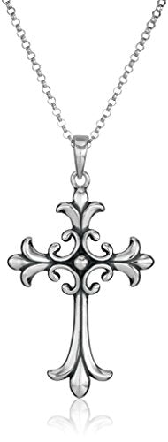 SHIP BY USPS: Sterling Silver Celtic Cross Pendant Necklace