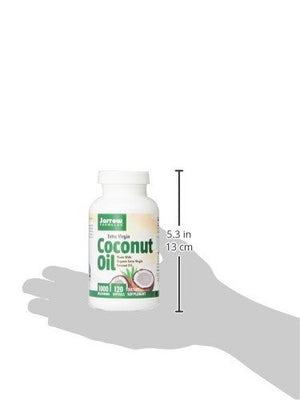 SHIP BY USPS: Jarrow Formulas Coconut Oil 100% Organic  Extra Virgin, Supports Cardiovascular Health, 1000 mg, 120 Softgels