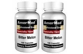 SHIP BY USPS: Bitter Melon Extract 600mg, 120 Capsules (2 Bottles) by AmerMed